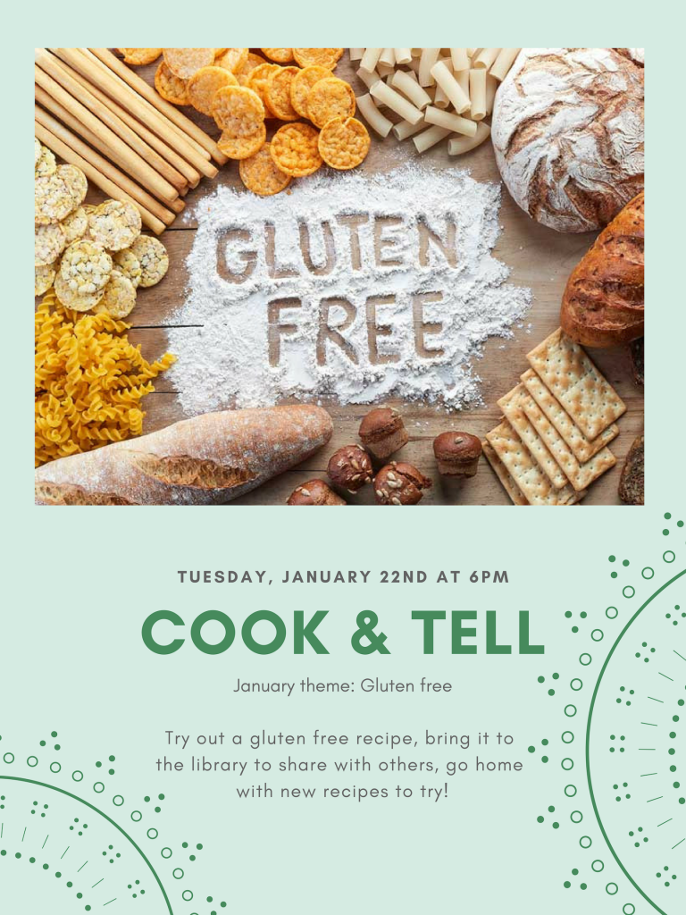 Cook & Tell: Gluten Free – Stirling-Rawdon Public Library